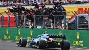 Alonso en el Hungaroring