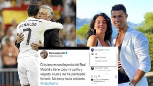 Ancelotti desmiente... y la mujer de Cristiano contesta