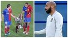 Henry en su etapa en el Barça y como asistente de la selección belga
