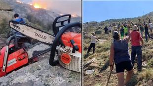 """Iker Casillas trabaja en """"primer plano"""" en la extinción del incendio de Navalacruz"""