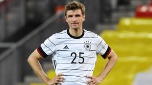 Müller en un partido de la Eurocopa 2020.