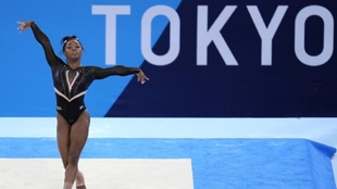 Simone Biles during the Olympics