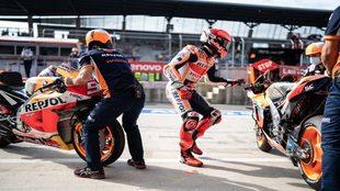Marc Márquez cambia de moto en Austria.
