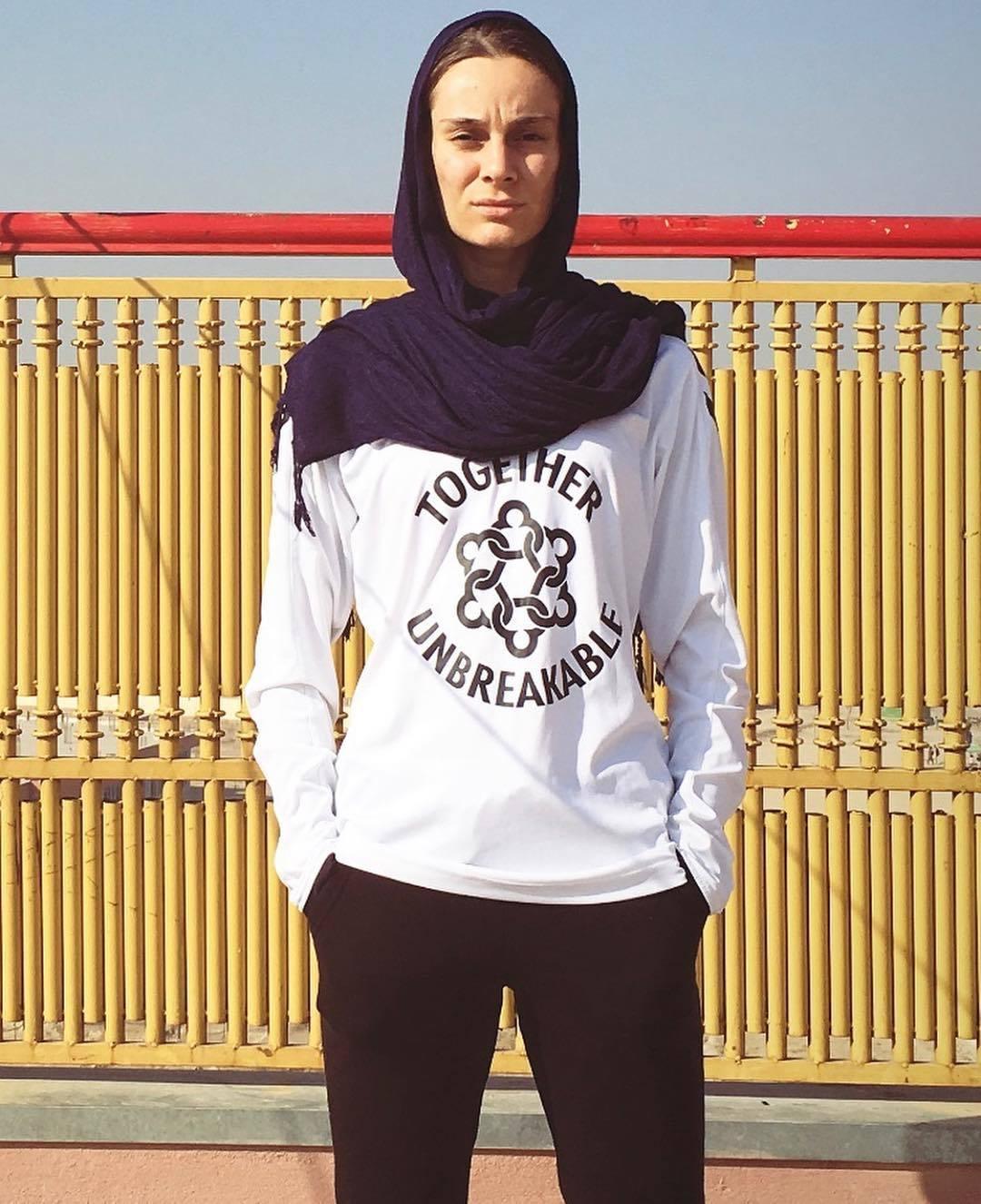 Shabnam Mobarez, actual capitana de la selección femenina afgana