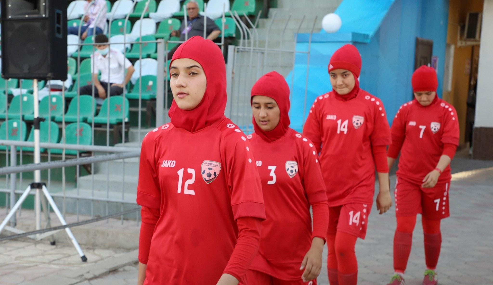 La selección femenina sub 17 de Afganistán