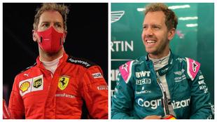 Vettel with Ferrari and Aston Martin.