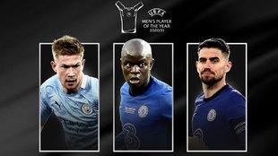De Bruyne, Kanté y Jorginho, candidatos a Jugador del Año