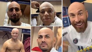El vestuario del PSG se divierte dejando 'calvas' a sus estrellas: ¡alguno da grima!