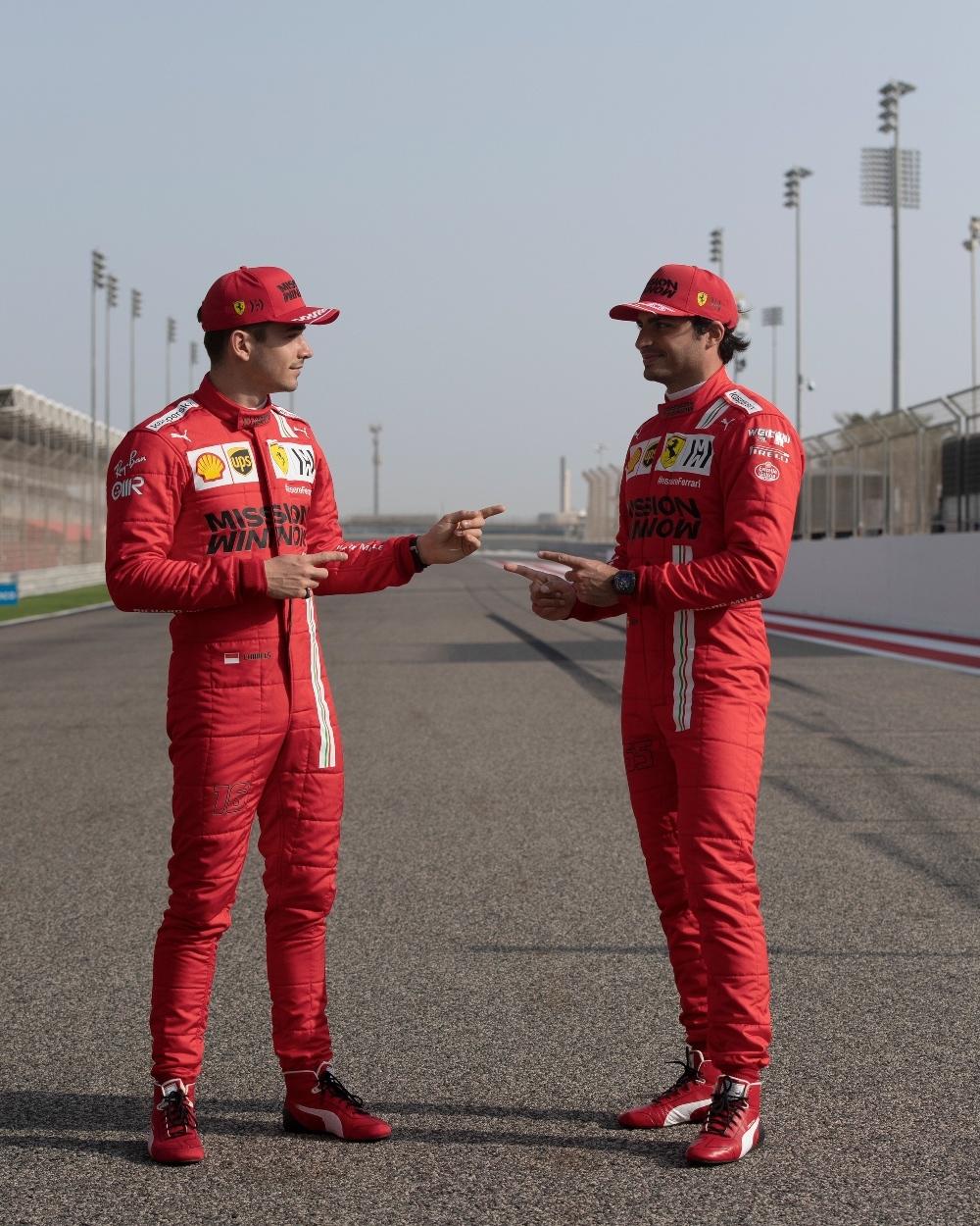 Carlos Sainz y Charles Leclerc