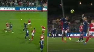 Mbappé sigue enchufado mientras aclara su futuro: ¡golazo de cabeza llegando desde atrás!