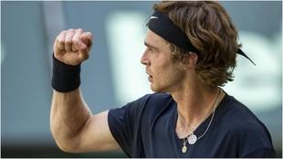 Andrey Rublev (23) en el torneo de Halle.