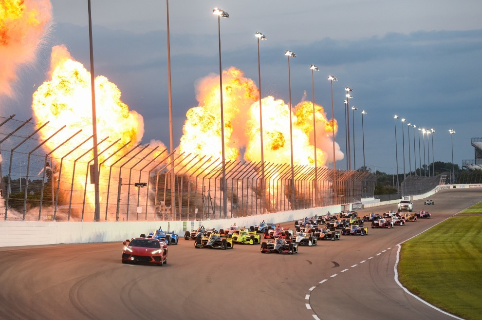 Alex Palou - Indycar - accidente - O'Ward - pierde el liderato - Ganassi - Gateway