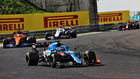 Alonso, durante el GP de Hungría.