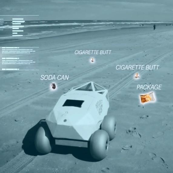 Beach Bot - robot - limpia playas - colillas - residuos - plásticos