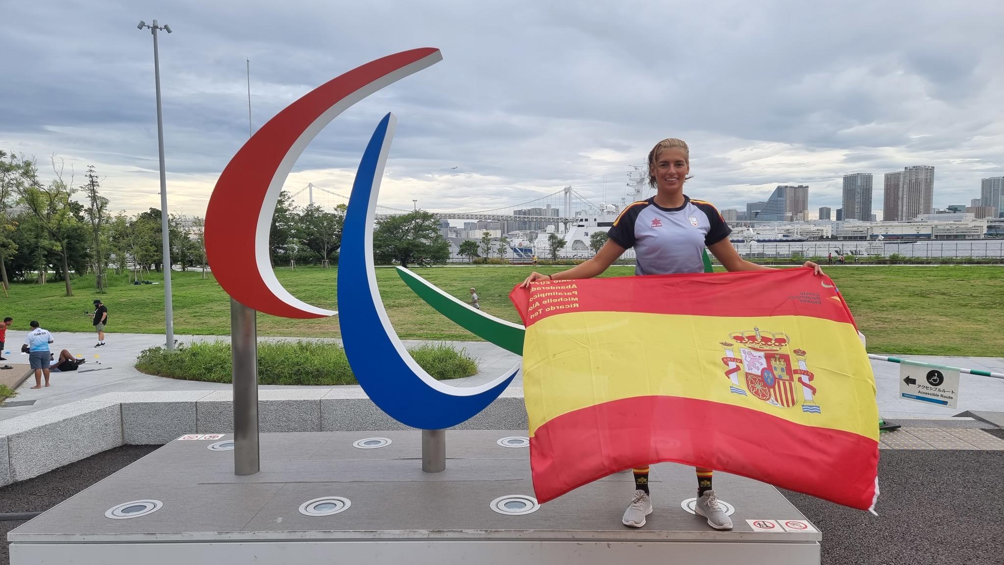 Michelle Alonso, abanderada española junto a Ricardo Ten.