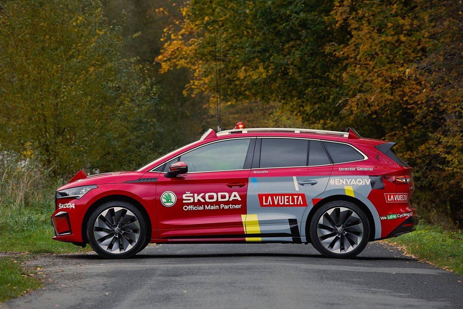 La Vuelta estrenó el Skoda Enyaq iV en 2020 y ya cuenta con más unidades.