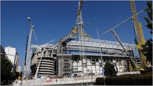El Santiago Bernabéu en una imagen del 18 de agosto.