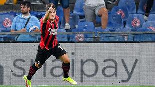 Brahim celebra su gol a la Sampdoria.