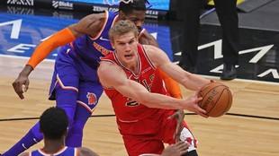 Markkanen en un partido ante los Knicks.