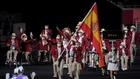 España, desfilando en el Estadio Olímpico de Tokio.