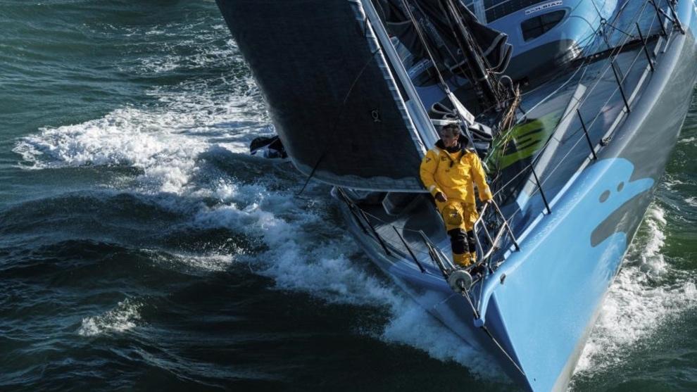 Didac Costa en su embarcación.
