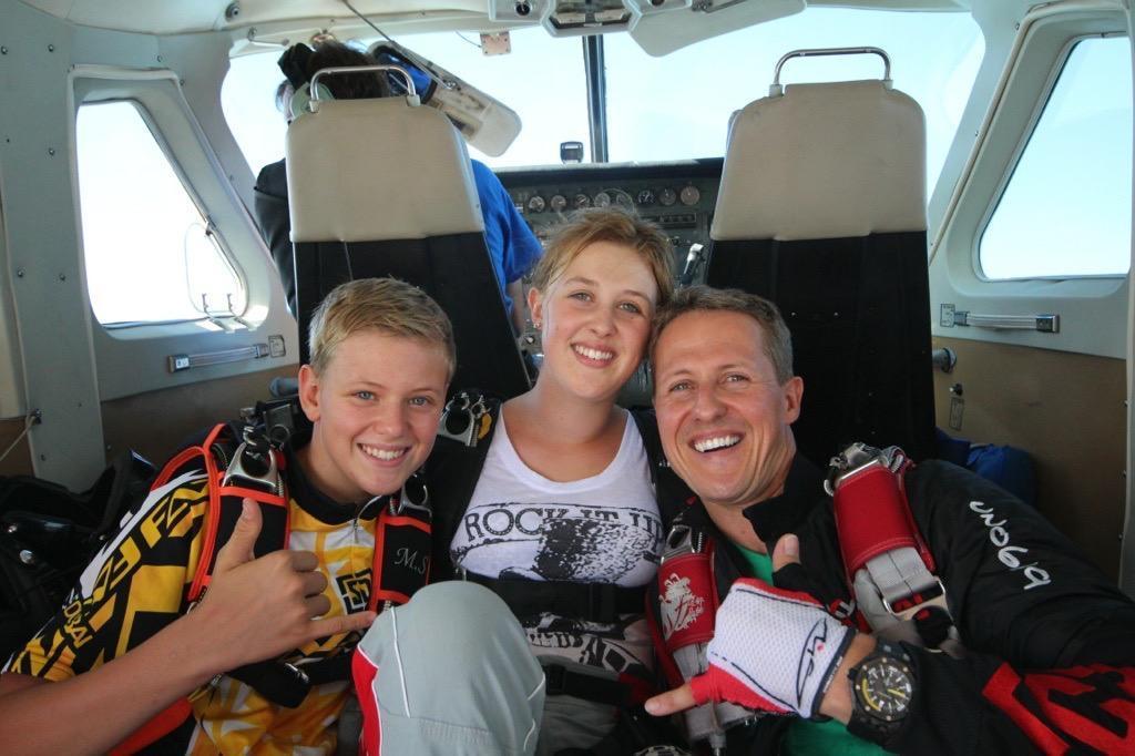 Michael, con Mick y Gina Maria, en una de las imágenes del documental.