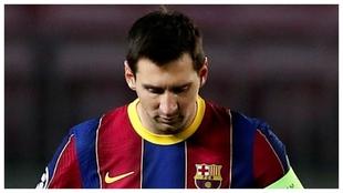Leo Messi, en un partido ante la Juventus.