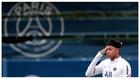 Mbappé, en un entrenamiento con el PSG.