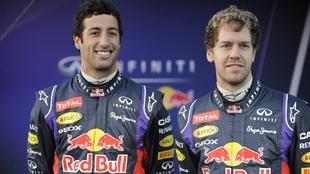 Ricciardo and Vettel