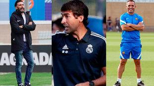 Eder Sarabia, entrenador del Andorra; Raúl González, entrenador del...