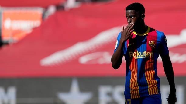 Ilaix Moriba durante un encuentro con el FC Barcelona.