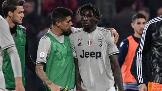 Moise Kean, en su etapa como jugador de la Juventus.