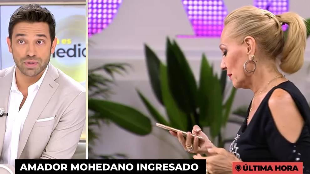 Rosa Benito se enteró de la noticia en directo /