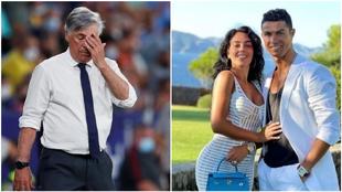 Ancelotti y Georgina y Cristiano