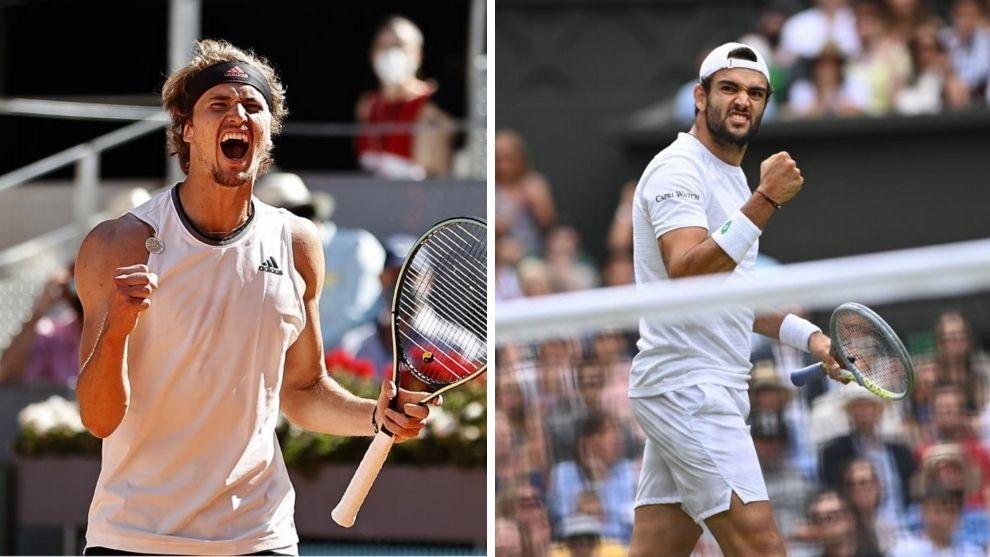 Berrettini y Zverev podrían ser dos de los rivales del serbio en el US Open.