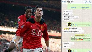 """El Whatsapp de Cristiano a Evra que parecía una broma: """"No soy tu payaso..."""""""