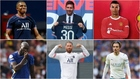 Kylian Mbappé, Leo Messi, Cristiano Ronaldo, Romelu Lukaku, Sergio...