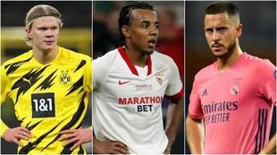 Haaland, Kounde and Hazard