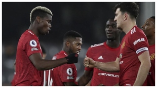 Pogba y Maguire, en un reciente partido del United.