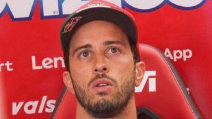 Andrea Dovizioso, en Ducati en 2020.