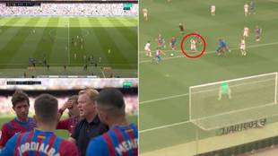 Charla de Koeman y jugada del gol del Getafe.