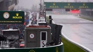 El aspecto de la pista durante buena parte de la tarde en Spa.