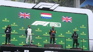 El podio de Spa.