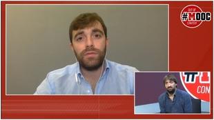 El periodista italiano Fabrizi Romano, atendiendo a MARCA a a 24 horas...