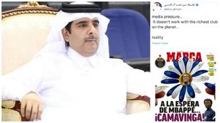 El 'primo' del jeque de Qatar y su tweet con la portada de MARCA.