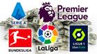 La liga inglesa vuelve a ser la que más dinero gasta en el mercado.