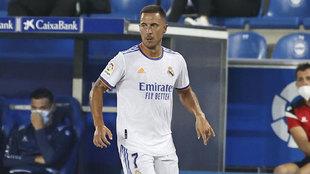 Eden Hazard, durante el partido ante el Alavés