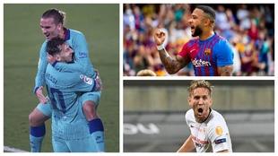 Messi, Griezmann, Memphis y De Jong.