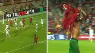 Los dos tremendos cabezazos de Cristiano en el 89' y 96'... y su celebración a lo Messi