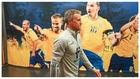 Luis Enrique, en el túne de vestuarios del AIK Solna.